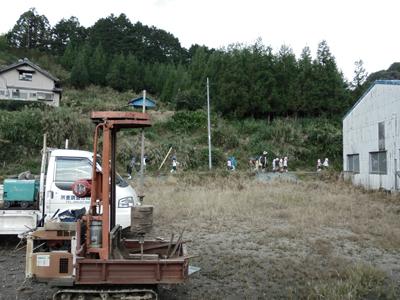 houseK 地盤調査Snowdesignoffice スノーデザインオフィス 静岡 住宅設計 設計事務所